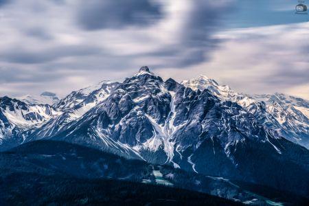 Austria Mountains Stylized