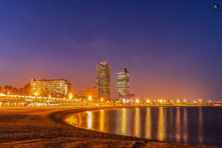 Barcelona Strand Nacht 2