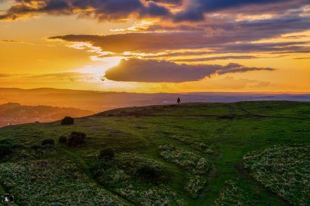 Edinburgh Sonnenuntergang Arthurs Hill