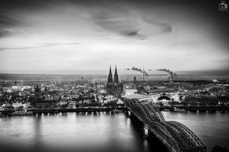 Köln Skyline Monochrome