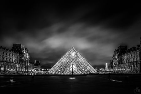 Paris Louvre At Night