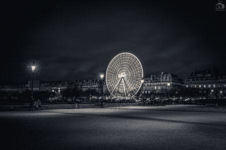 Paris Riesenrad Nacht