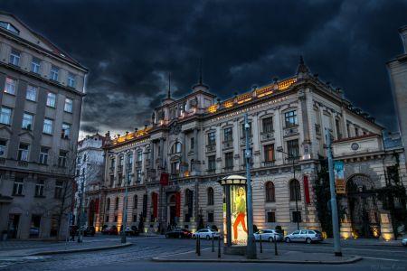 Prague Hotel At Night