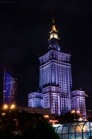 Warsaw - Cultural Palace At Night
